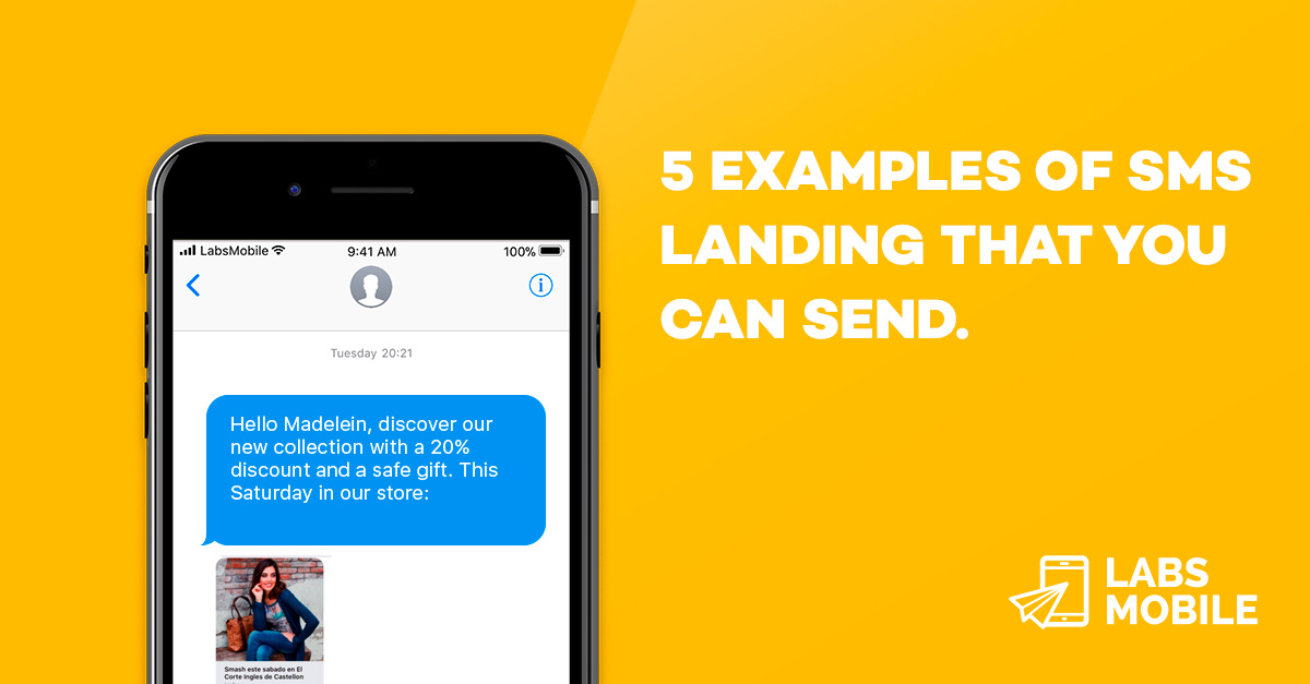 SMS Editor landings. Examples and Previews.