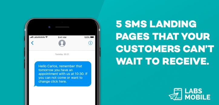 sms landing example
