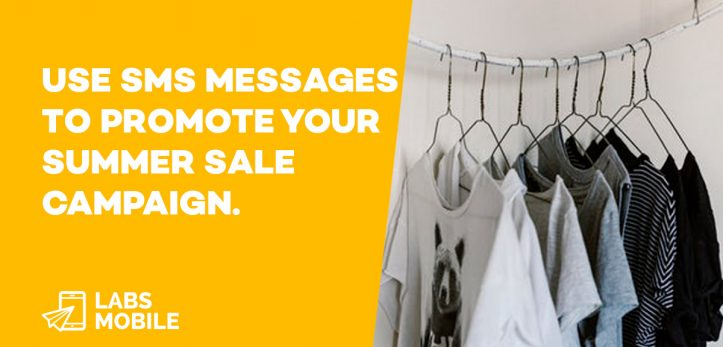 SMS messages Summer Sale Campaign