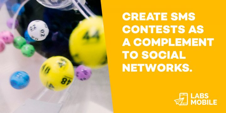 Create SMS contests as a complement to social networks