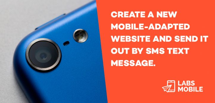 Create a new mobile adapted website and send it out by SMS text message.