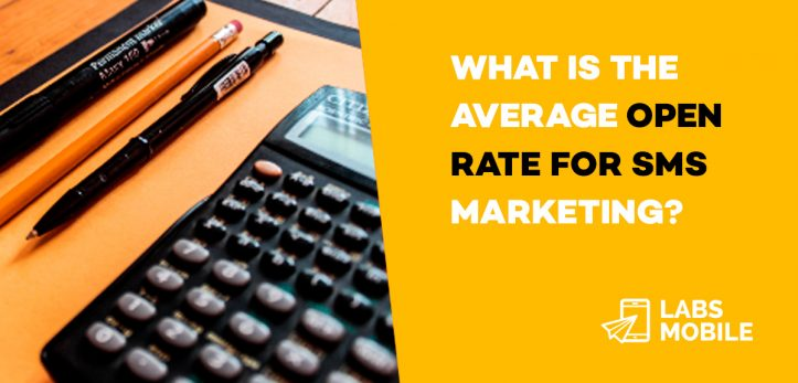 What is the average open rate for SMS marketing
