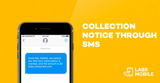 collection notice sms