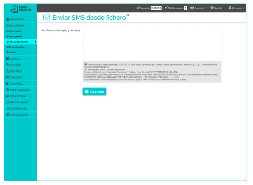 Envía SMS LabsMobile.