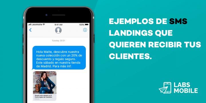 SMS Landing Ejemplos