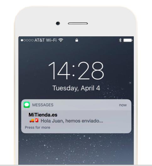mensaje SMS.