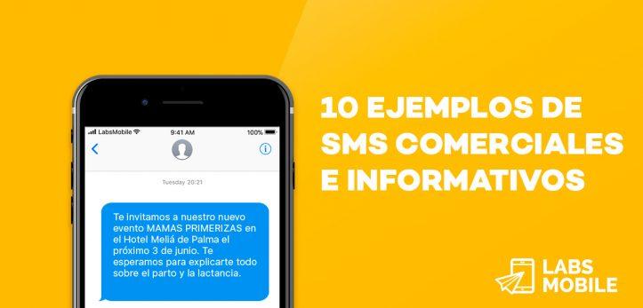 ejemplos de SMS comerciales