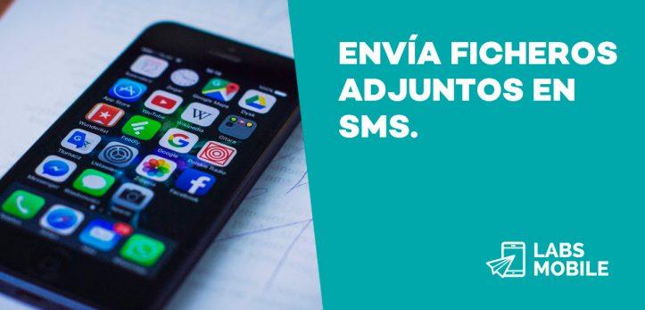 ficheros adjuntos SMS