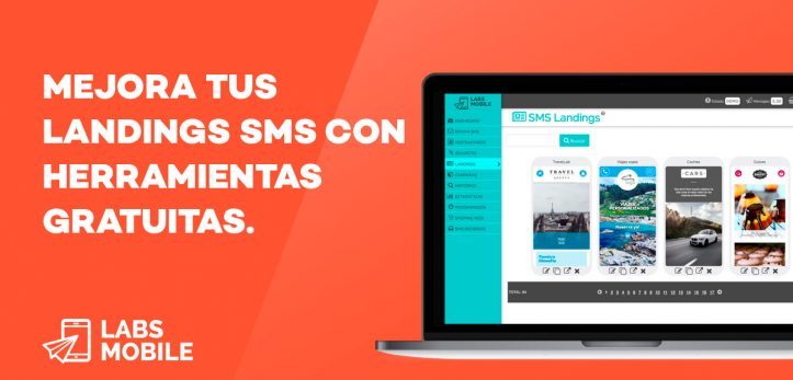 editor de Landings SMS