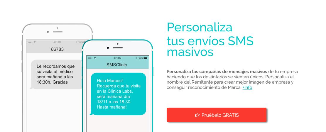 Personaliza los envíos SMS