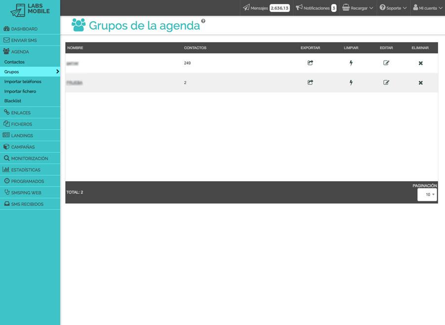 Agenda i bases de dades - Base de dades segmentada