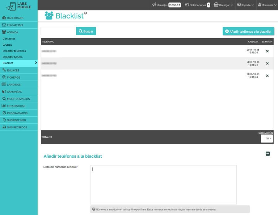 Agenda i bases de dades - Gestió de Blacklist