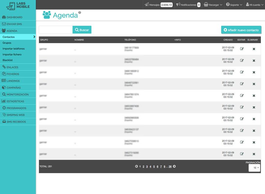 Agenda i bases de dades - Gestió de contactes