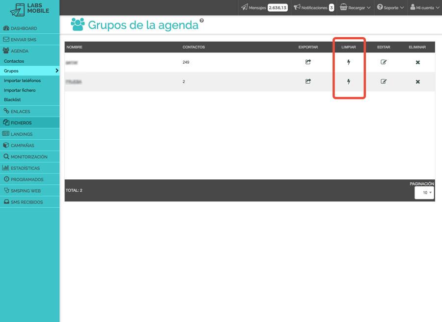 Agenda i bases de dades - Neteja i filtrat de bases de dades